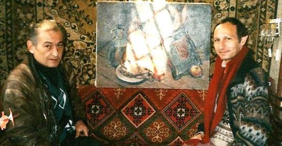 DJOUMBER ASLAMAZACHVILI JOUEUR DE DOLI GEORGIEN ET MOI TBILISSI 1996